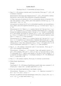 Resolução lista 15 - Continuidade da função inversa