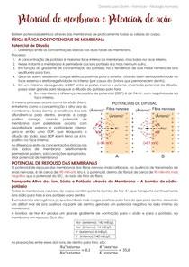 Potencial de membrana e Potencial de ação