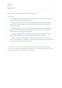 Avaliação Final - Gestão Estratégica com foco na Administração Pública