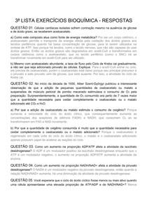 3ª LISTA EXERCICIOS BIOQUIMICA