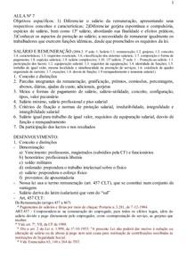 Aula_Salário e Remuneração