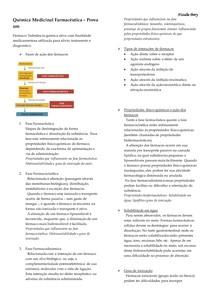 Resumo de Química Medicinal Farmacêutica