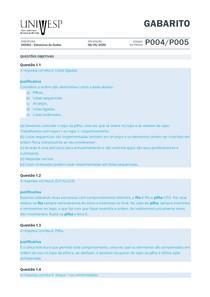 Gabarito PROVA Estruturas de Dados - Univesp 2020
