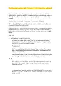 objetiva   administração financeira e gerenciamento de capital 100