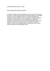 ATIVIDADE DIREITO CIVIL II - 26 04