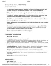Carboidratos - Bioquímica dos Carboidratos _ Resumo de Bioquímica