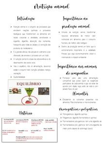 Nutrição animal introduçao