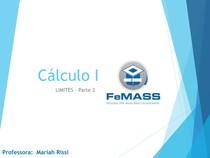 Cálculo I- Aula 3 Limites parte 2