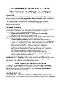 SNC - GABA E GLUTAMATO