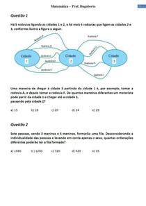 Análise Combinatória e Probabilidade - Parte 1