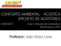 Conforto Ambiental   Acústica (Projeto de Auditório)   Aula 1   19 09 2017 (1)