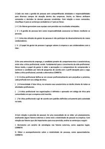 QUESTÕES OBJETIVAS DE RECRUTAMENTO E SELEÇÃO - Recrutamento e - 3 864267abd319c