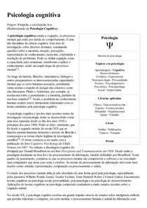 Psicologia cognitiva – Wikipédia  a enciclopédia livre