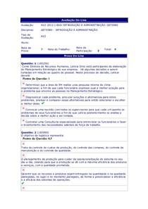Prova AV2 - Introdução à Administração
