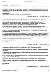 Avaliação Direitos Humanos - Facuminas