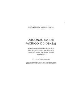 Malinowski, B - OS ARGONAUTAS DO PACÍFICO OCIDENTAL