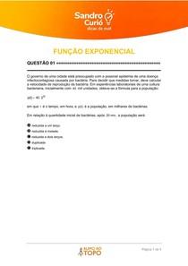 QUESTÕES NÉCTAR - FUNÇÃO EXPONENCIAL 1 - 02 2021