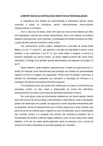 DIREITO AO ESQUECIMENTO e direito de resposta