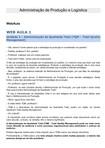 Wa2 - Adm - Administração de Produção e Logística