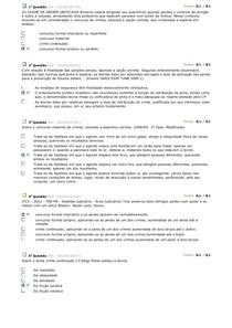 BDQ DIREITO PENAL II / avaliando aprendizado