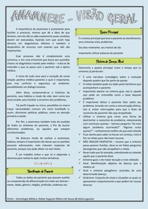 Semiologia Médica Anamnese Visão geral