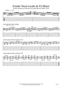 Estudo Vocal escala de Fá Maior