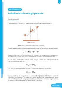 Energia potencial, energia de equilíbrio e estabilidade do equilíbrio - Resumo