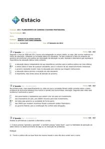 AV1 PLANEJAMENTO DE CARREIRA E SUCESSO PROFISSIONAL