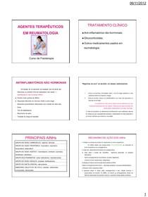 Agentes Terapeuticos em Reumatologia