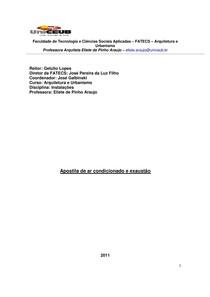 luminotécnica e Apostila ar condicionado 10.2011