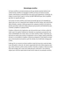 Metodologia cientifica-texto cientifico