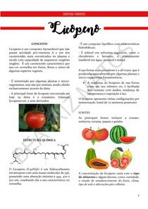 Licopeno - Resumo (Pigmentos)