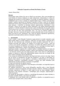 Educação Corporativa no Brasil   Da Prática à Teoria