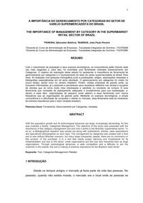 A Importância do Gerenciamento por Categorias no Setor de Varejo Supermercardista do Brasil