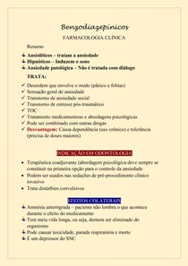 Farmacologia - Benzodiazepínicos