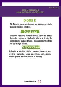 Medicamentos Analgésicos (opióides)
