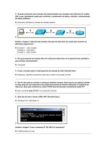 Prova com respostas - CCNA 1 - Módulo 1