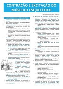 Contração e excitação do músculo esquelético
