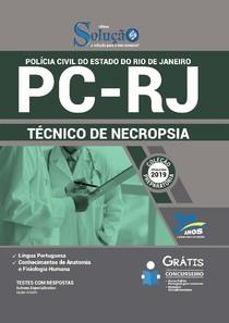 APOSTILA - PC RJ - Técnico em Necropsia - Editora SOLUÇÃO 2019