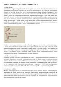Inervação do pescoço, considerações clinicas