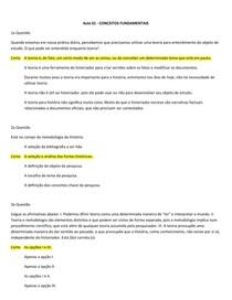 Teoria da História (Questionário Completo)