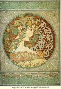 Alphonse Mucha - Ivy