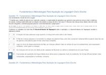APOL   Fundamentos e Metodologias Para Aquisição da Linguagem Oral e Escrita
