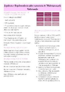 Resumo de Legislação e Regulamentação - Fitoterapia