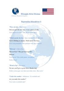 Expressões idiomáticas em inglês - 2
