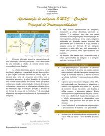 Apresentação de antígenos e complexo MHC