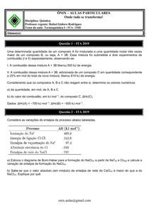Termoquímica I - ITA-IME
