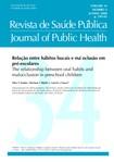 Relação entre hábitos bucais e má oclusão em pre escolares