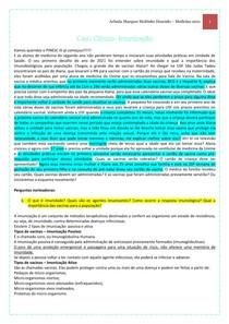 Caso Clínico - Imunização