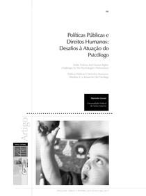 Políticas Públicas e DH_desafios a atuação dos psicologos_2013